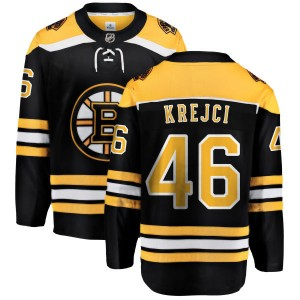 Youth Boston Bruins David Krejci Fanatics Branded Home Breakaway Jersey - Black