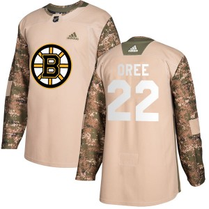 Youth Boston Bruins Willie O'ree Adidas Authentic Veterans Day Practice Jersey - Camo