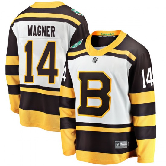 Youth Boston Bruins Chris Wagner Fanatics Branded 2019 Winter Classic Breakaway Jersey - White